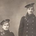 """Фото 2. Унтер-офицеры с линейных кораблей """"Полтава"""" и """"Гангут""""."""