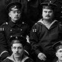 """5. Фрагмент снимка экипажа подводной лодки """"Акула"""", осень 1914 г."""