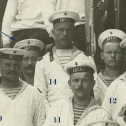 """Фото 3. Средний план снимка экипажа ПЛ """"Акула"""", 1912 год."""